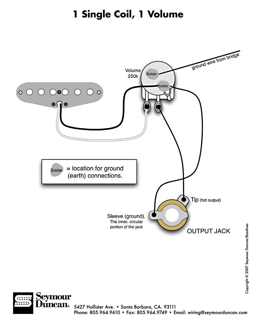 Coil Wiring Diagram : Telecaster single coil pickup wiring diagrams way switch